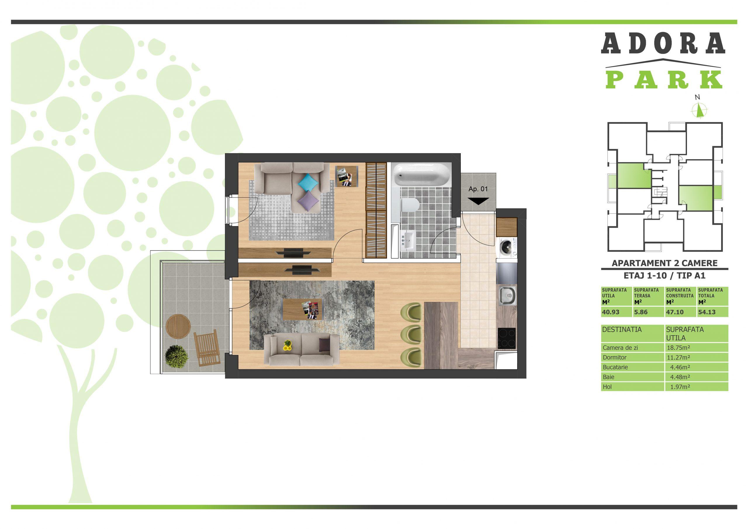 Apartament 2 camere Arad A1