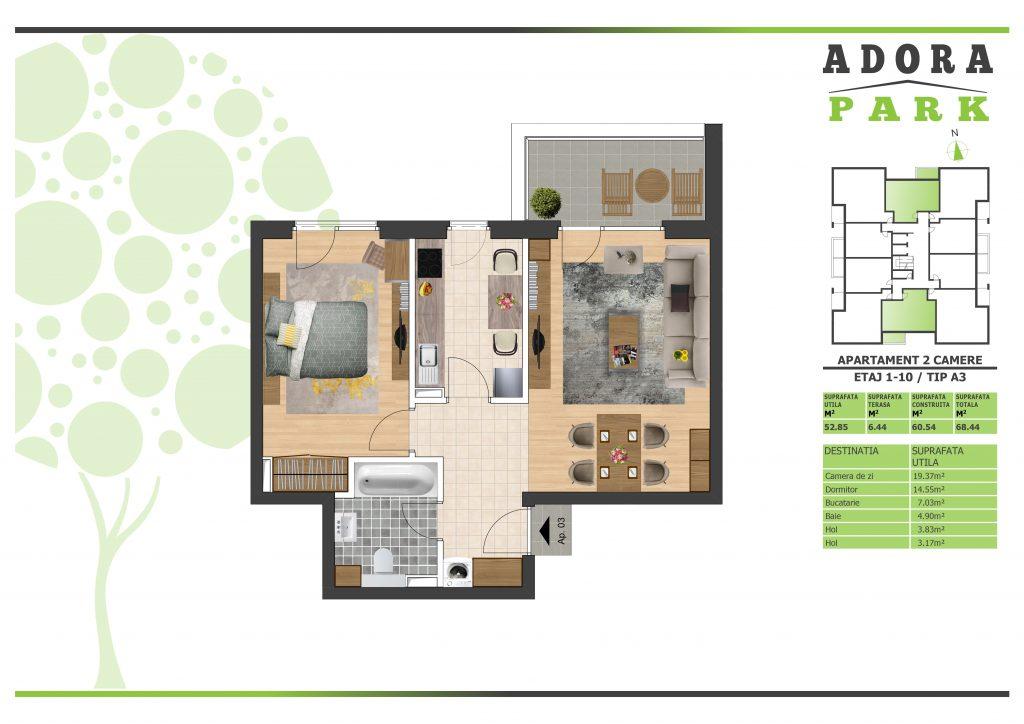 Apartament 2 camere Arad A3