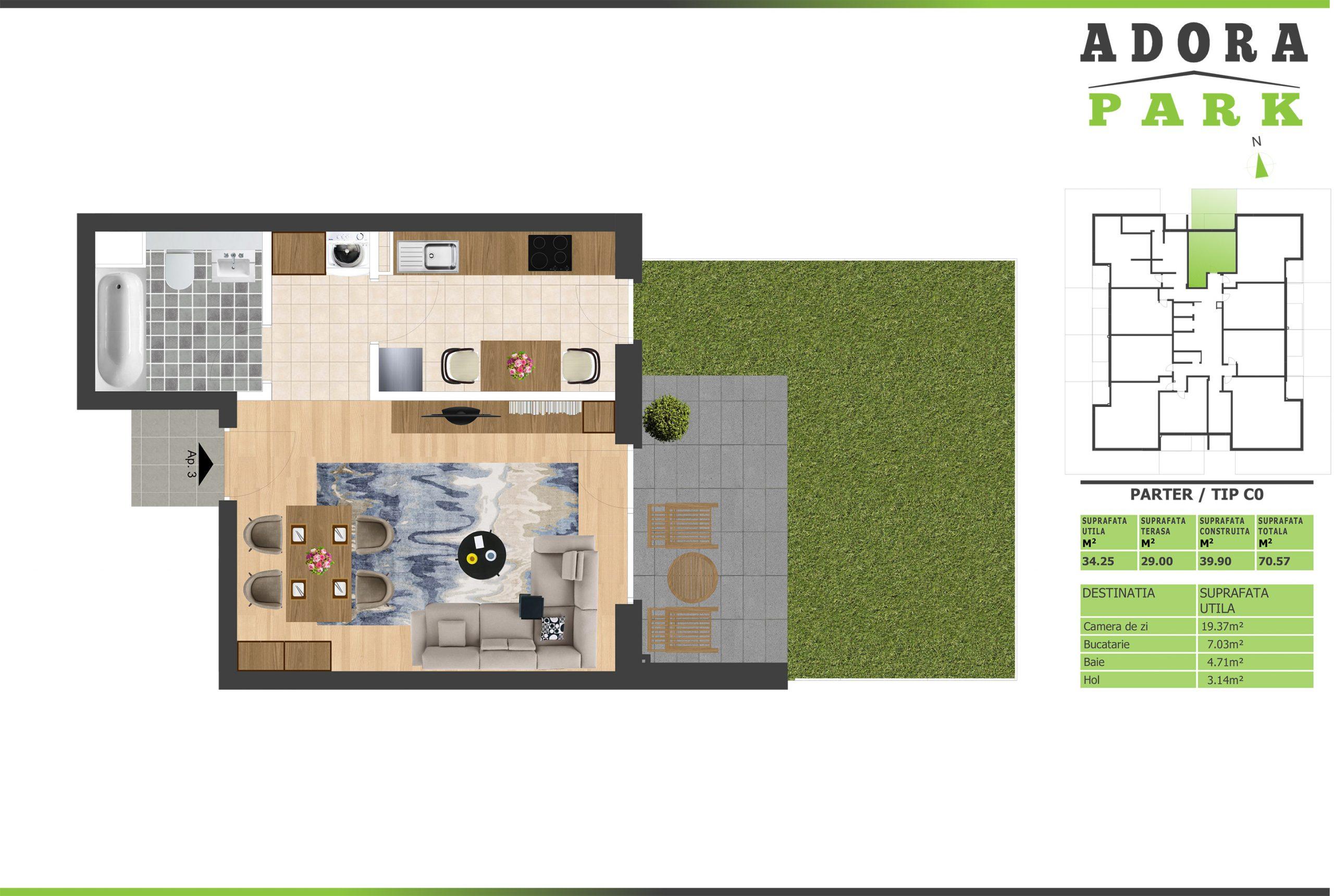 Apartament cu gradina arad