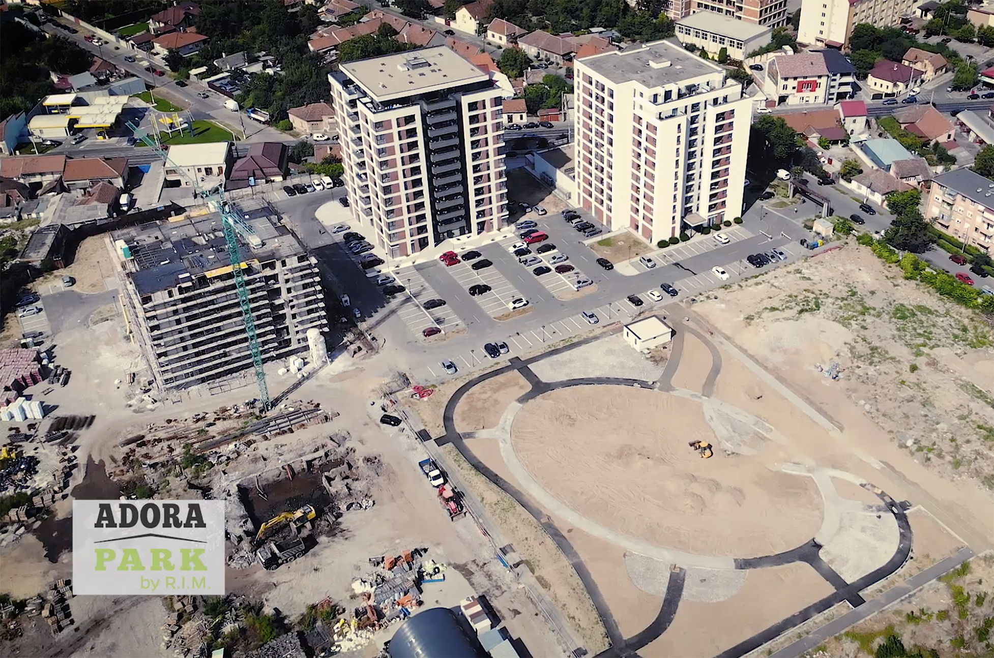 Reportaj TV Arad: lucrarile la Adora Park inainteaza